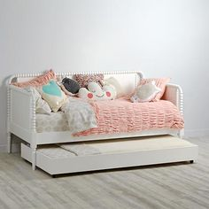 Jenny Lind Kids Daybed (white) | The Land of Nod (with trundle)