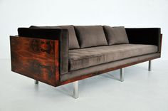 Rosewood case sofa - Milo Baughman | From a unique collection of antique and modern sofas at http://www.1stdibs.com/furniture/seating/sofas/
