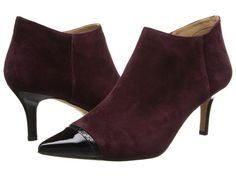 Trotters Alana Merlot Kid Suede/Black Snake Embossed Leather/Patent Leather - 6pm.com