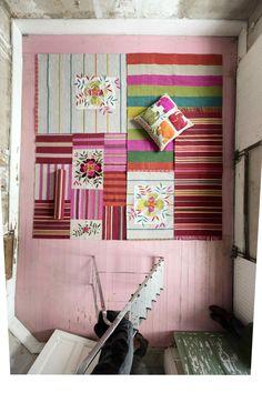 Gudrun Sjödéns Winterkollektion 2014 - Die neuen bunten Teppiche und Kissen aus Naturmaterialien mit dem Mix aus kletternder Blumenranken und afrikanischen Tieren veredeln jedes einzelne Zimmer.