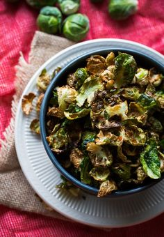 Fried Brussels Sprout Leaves with Lemon & Chili Flakes - The perfect crispy snack!