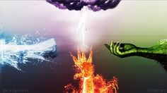 The 4 Elements To make this work, I am inspired by my character on Guild Wars which is an Elementalist I hope you enjoy this creation ! The 4 Elements 4 Elements, Classical Elements, Elements Of Nature, Earth Air Fire Water, Earth Wind & Fire, Element Wallpaper, Ice Magic, Elemental Powers, Shadow Art