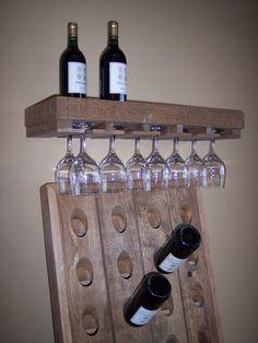 Wine rack wine shelf bar shelf liquor shelf rustic by for Pottery barn wine rack wood