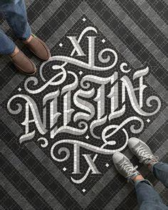 Austin Ambigram Fauxsaic