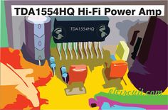 Hi-Fi Power Amp IC Power that is is simple, easy and cheap. The output power is (THD by channel (Bridged) at load (Speaker) 2 Ohm. Electronic Schematics, Electronic Circuit, Diy Amplifier, Circuit Diagram, Mini, Channel, Simple, Easy, Crafts