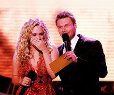 Carrie Underwood Idol winning moment!