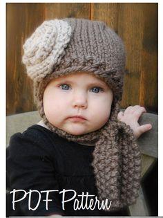 Modelo que hace punto-La Shyla Cap (12/18 meses, niño, tallas de niños y adultos)