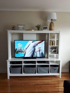 Tomnäs tv storage unit, white amped for apartment in 2018 tv within tomnäs ikea Tv Storage Unit, Ikea Shelving Unit, Shelves, Ikea Storage, Media Storage, Shelving Ideas, Storage Ideas, Houses, Lounges