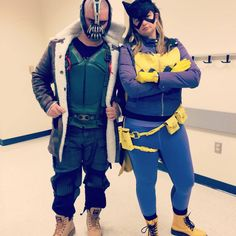 New 52 Batgirl by Riddler Batman Cosplay and Bane Cosplay by Chando