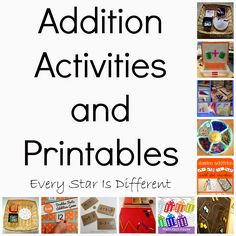 Every Star Is Different: Addition Activities & Printables (KLP Linky Party)