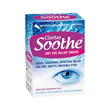 Clinitas Soothe - Vials (20*5ml).  Recommended by my optician for contact lens lenses wearers.  Look after your eyes.