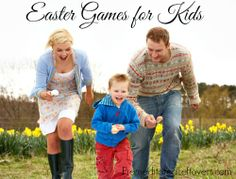 Great Easter games: duck waddle relay, inside egg roll with your nose, spoon and egg race, etc