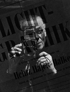 Self-portrait. Heinz Hajek-Halke (1898–1983) was a German experimental photographer who co-founded the Fotoform group with Otto Steinert.