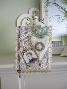 Victorian Fiber Art Victorian Wall Hanging by OurVintageFlair
