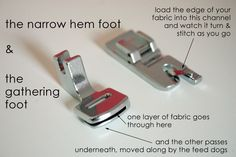 narrow hem and gathering foot