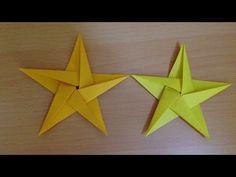 折り紙の星 簡単な折り方 Origami star - YouTube