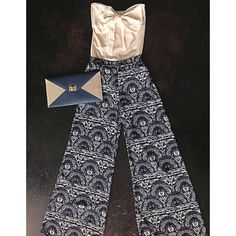 navy palazzo pants // bow // bodysuit // beige top // fall 2013 // fashion // ootd // ootn // girls will be girls couture // gwbg // shopgwbg // shop //