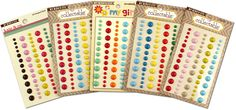 Today's Deal is a My Minds Eye Enamel Dot Mega Kit one of their hottest sellers. It includes 5 sets of Dots with 44 dots on each for a total of 220 dots. 59% OFF at www.peachycheap.com!
