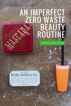 As one of my zero waste exception items, I've had to spend time thinking about makeup and how to create a workable, near zero waste beauty routine.