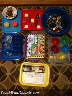 Transportation Theme Tot Trays from Teach What Counts