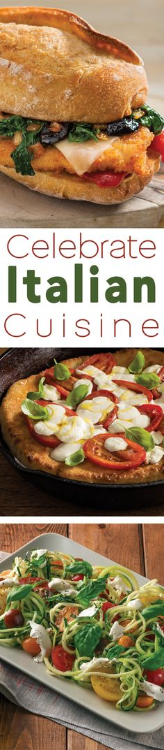 Put a contemporary twist on Italian cuisine with a Cast-Iron Skillet Pizza, Chicken Cutlet Broccoli Rabe Sandwich or Caprese Zucchini Noodle Bowl from Filippo Berio.