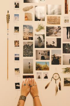 Weekend Do: Start A Photo Wall wish list item: large magnet or cork board to use as a photo wall