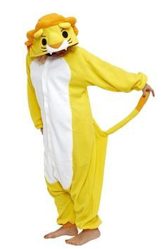f5a7bf6b62 Halloween Kigu Kid's Yellow&White Lion Costume (110) Jumpsuit Cosplay Size  4-7 688474321977