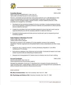 Experiential Marketing Resume | 18 Best Non Profit Resume Samples Images On Pinterest Free Resume
