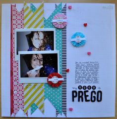 pregnancy scrapbook layout...love the title of this page