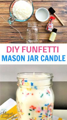 A soy mason jar candle makes for fun & frugal home decor, party centerpieces, & gifts. Try this easy DIY mason jar candle project for yourself. Mason Jar Centerpieces, Mason Jar Candles, Diy Candles, Diy Gifts For Him, Diy Gifts For Friends, Mason Jar Gifts, Mason Jar Diy, Homemade Candles, Homemade Gifts