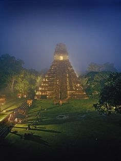 Tikal, Guatemala. In the process of a long, long renovation project, this site, which includes five soaring temple pyramids, is former-glory spectacular. Don't be content with a day-trip.