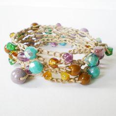 handmade crochet wrap bracelet crochet necklace by jcudesigns, £17.00