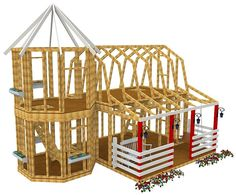 Barn & Silo Playhouse Plan