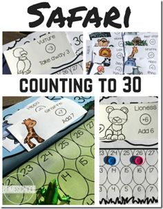 FREE! Safari Counting to 30 Game. This is such a fun number game for Preschool and Kindergarten children to play. SUPER CUTE (homeschool)