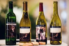 Love this idea!! Have pictures of us on the wine bottles. Then let the guest sign them and drink them at our 1, 5, 10, and 20 year anniversaries :)