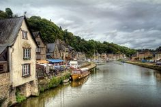 The medieval city of Dinan sitting on the River Rance in Brittany, France.  Photo by Ann Garrett
