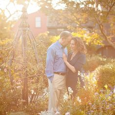 A romantic autumn engagement session in Salem for a couple who met while hiking in Patagonia, by Deborah Zoe Photography.