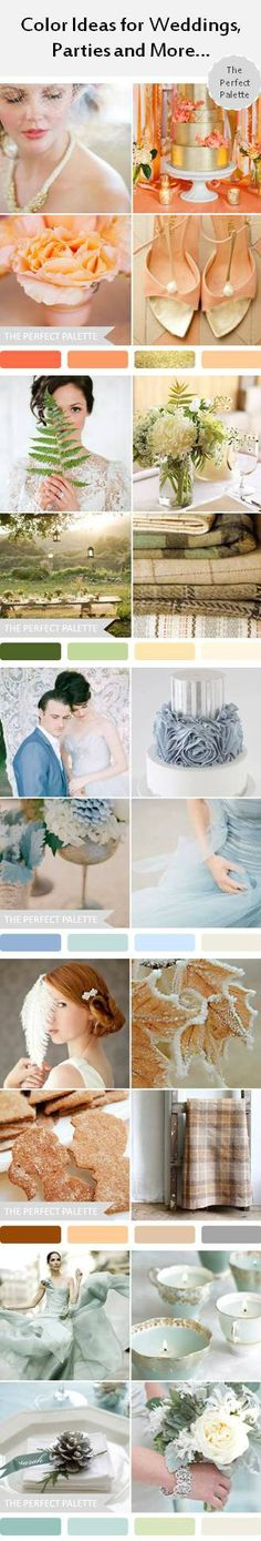 Color ideas for weddings, parties and more! http://www.theperfectpalette.com/search/label/%7BParty%20Palette%7D