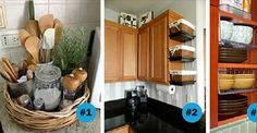 13 amazing organization tips to squeeze that extra storage out of your mini-kitchen Kitchen Organization, Organization Hacks, Kitchen Storage, Organizing Tips, Small Curtain Rods, Sink Shelf, Custom Shelving, Mini Kitchen, Kitchen Magic