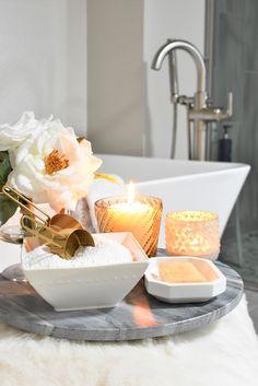 Master Bathroom Bathtub Refresh - Home with Holliday Diy Bathtub, Bathtub Decor, Old Candles, Black Candles, Bathroom Candles, Bathroom Inspiration, Bathroom Ideas, Bathroom Inspo, Bathroom Remodeling