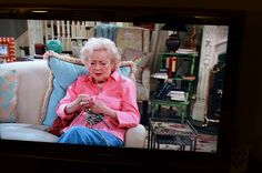 Betty White Knitting #celebknitters