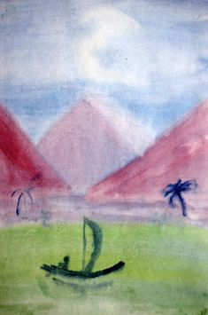 Waldorf ~ 5th grade ~ Ancient Egypt ~ watercolor painting