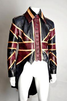 Mens Iconic Luxury Leather Handmade Union Jack by ImperoLondon