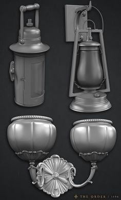 Lamps for The Order 1886, Alec Moody on ArtStation at https://www.artstation.com/artwork/lamps-for-the-order-1886