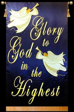 Glory to God in the Highest - Christmas Praise Banner