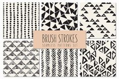 Brush Strokes. Seamless Patterns v.4 by Curly_Pat on Creative Market