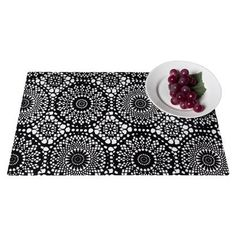 """Torre & Tagus Lace Print Placemat Set of 8 - 17.5x11"""""""