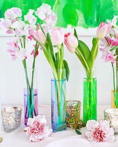 DIY Iridescent Rainbow Vases