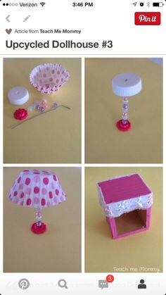Upcycled Dollhouse 3 - Teach me mom - Dollhouse Teach Mama mich Upcycl .Upcycled Dollhouse 3 - Teach me mom - Dollhouse Teach Mama mich UpcycledDIY side tables from old drawers diy furniture Upcycled Crafts, Diy And Crafts, Paper Crafts, Repurposed, Canvas Crafts, Resin Crafts, Barbie House Furniture, Doll Furniture, Furniture Ideas