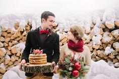 Влюбиться в зиму: вторая свадьба Даши и Сережи weddywood.ru